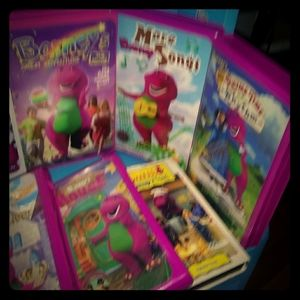 7 Barney VHS and Barney Backpack